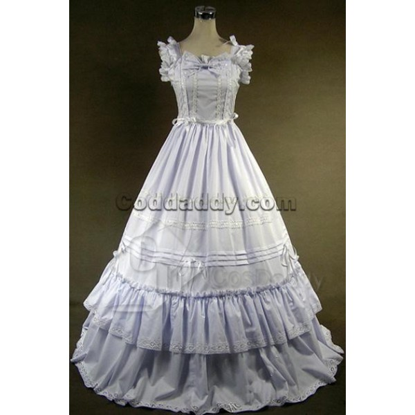 Southern Belle Gothic Lolita Ball Gown Dress White Cosplay Costume