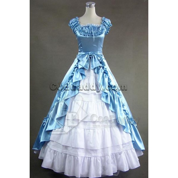 Renaissance Gothic Wedding Dress Ball Gown Prom Co...