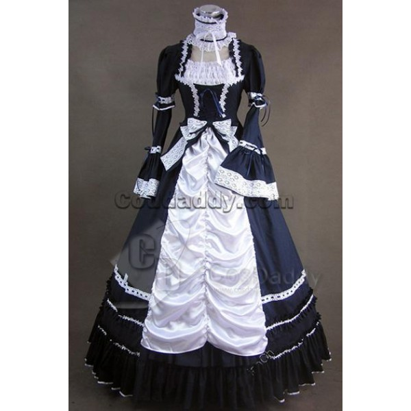 Renaissance Gothic Lolita Dress Ball Gown Prom Cos...