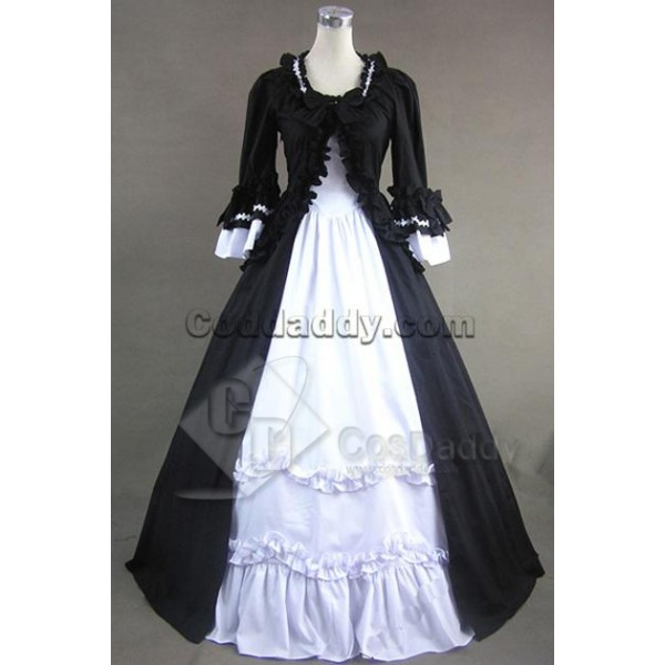 Renaissance Gothic Lolita Cotton Dress Ball Gown C...