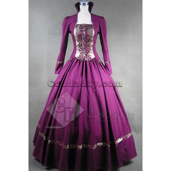Gothic Victorian Brocade Dress Ball Gown Cosplay Costume