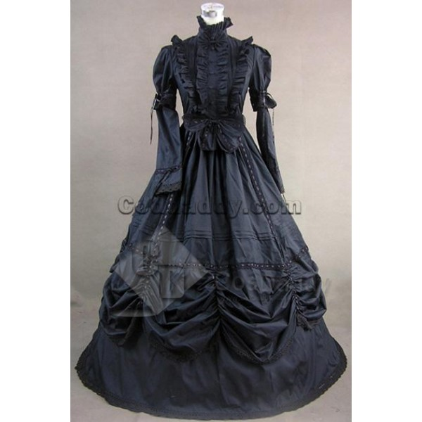 Gothic Lolita Cotton Dress Ball Gown Prom Cosplay ...