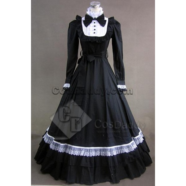 Gothic Lolita Cotton Cosplay Dress Ball Gown Prom ...