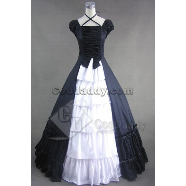 Civil War Gothic Lolita Satin Ball Gown Dress Cosp...