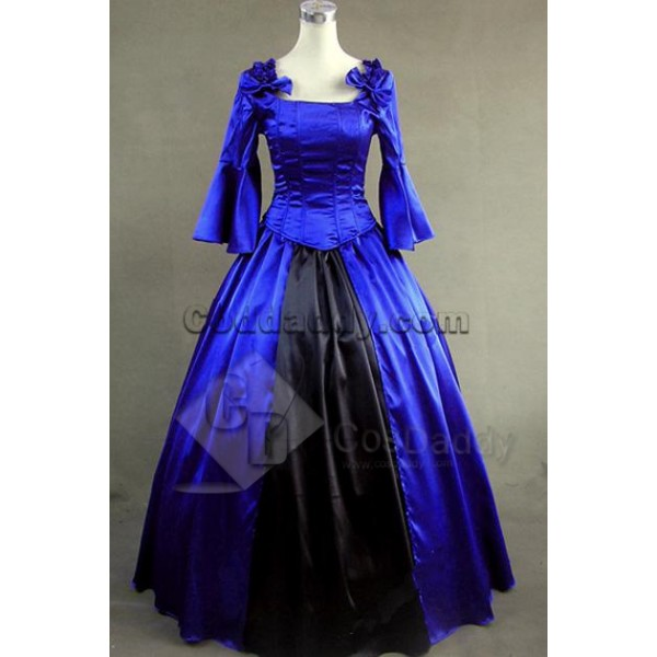 Southern Belle Satin Lolita Ball Gown Prom Dress C...