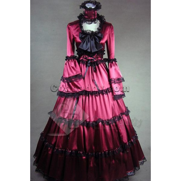 Southern Belle Gothic Lolita Satin Dress Ball Gown...