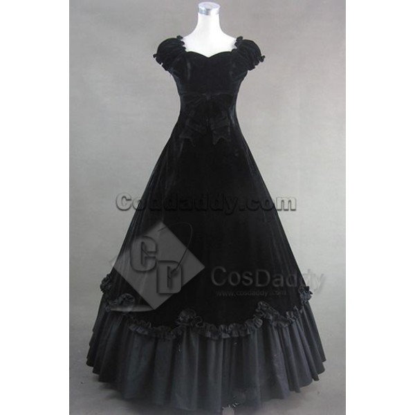 Southern Belle Civil War Satin Ball Gown Dress Cos...