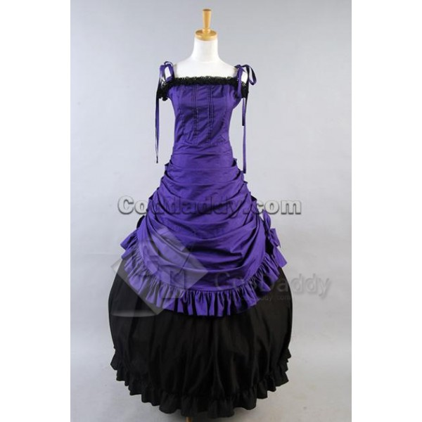 Southern Belle Civil War Ball Gown Wedding Dress Cosplay Costume