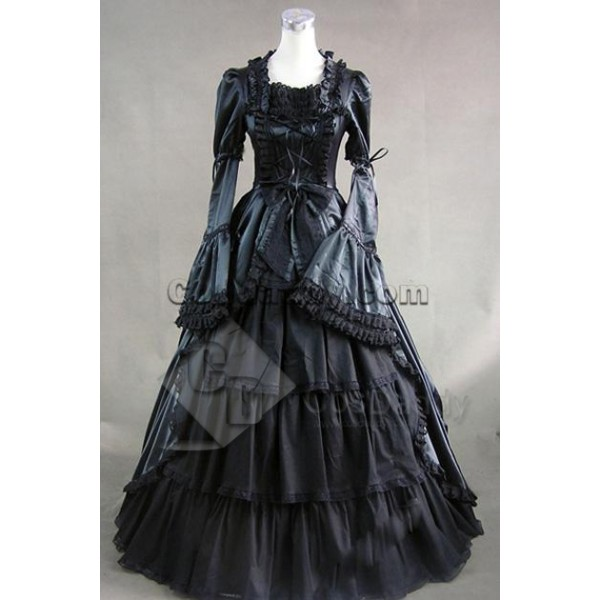 Renaissance Colonial Dress Ball Gown Prom Cosplay ...