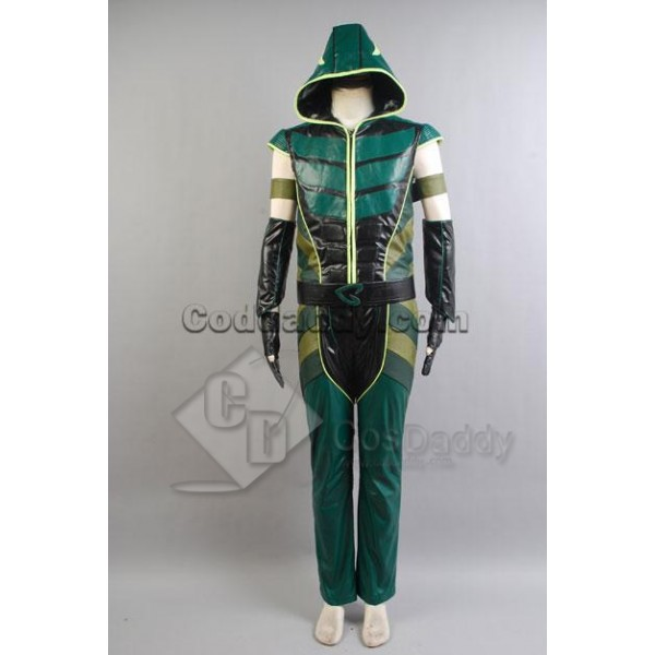 Smallville Justice League Green Arrow Hoodie Cosplay Costume New Version