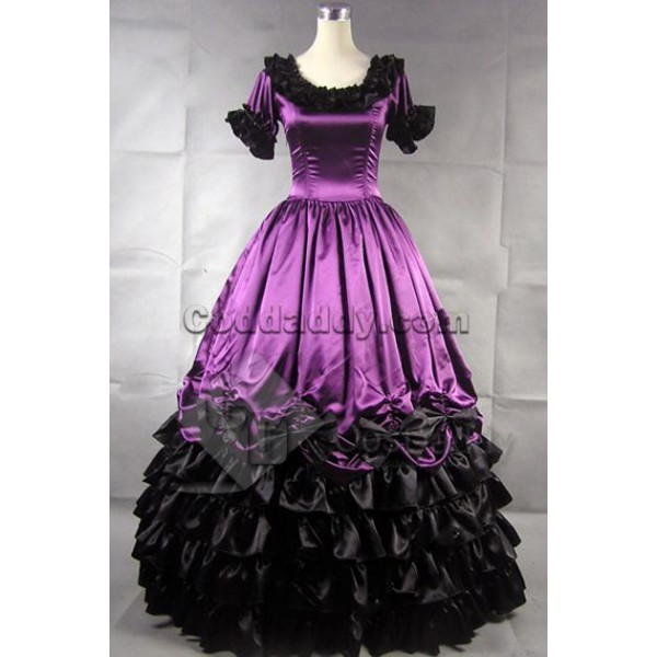 Civil War Southern Belle Ball Gown Dress Prom Cosp...