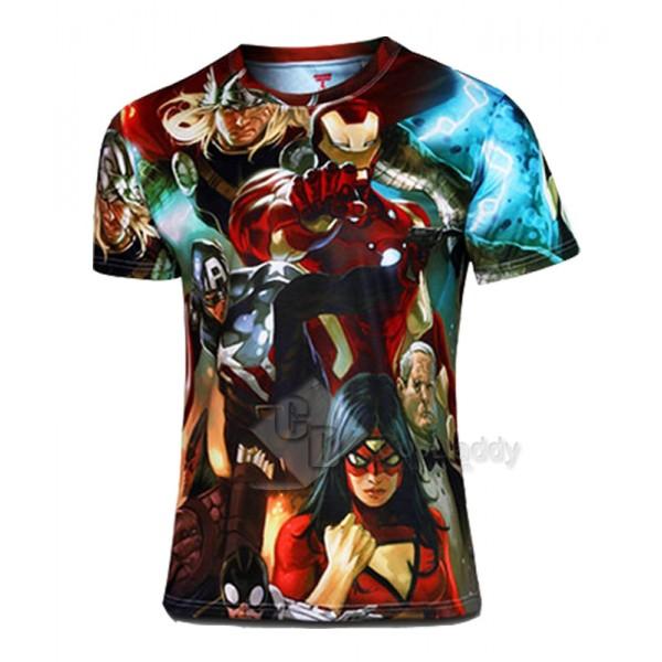 2015 Superhero T shirt Tee Short Sleeves T-Shirt
