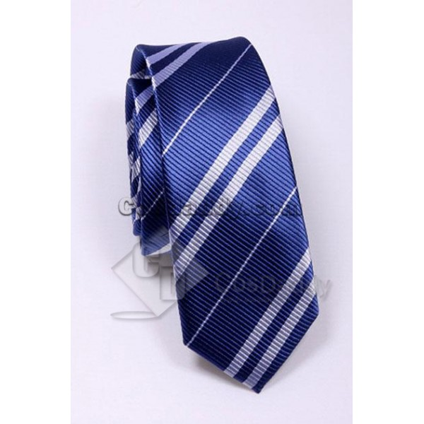Harry Potter Ravenclaw Blue & Grey Tie Vintage Silk