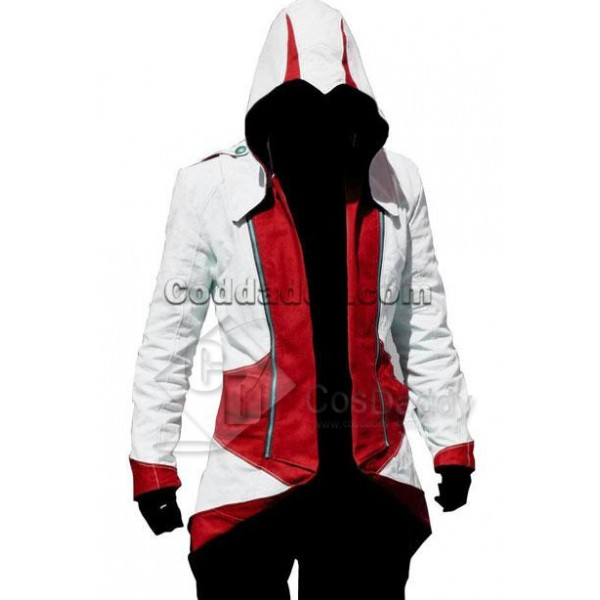 Assassin's Creed III Connor Kenway Coat Jacket Hoo...