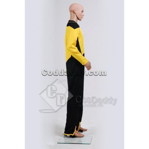 Star Trek Voyager Security/Operations Duty Uniform Yellow Jumpsuit Cosplay Costume