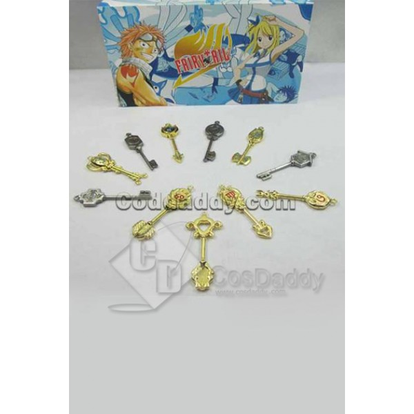 Fairy Tail Collection Set of 11 Golden Zodiac Keys