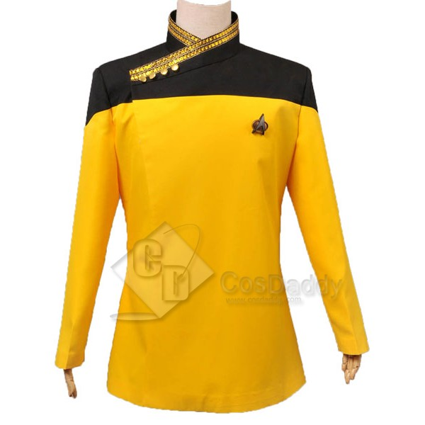 Star Trek TNG the next Generation Yellow  Dress Uniform