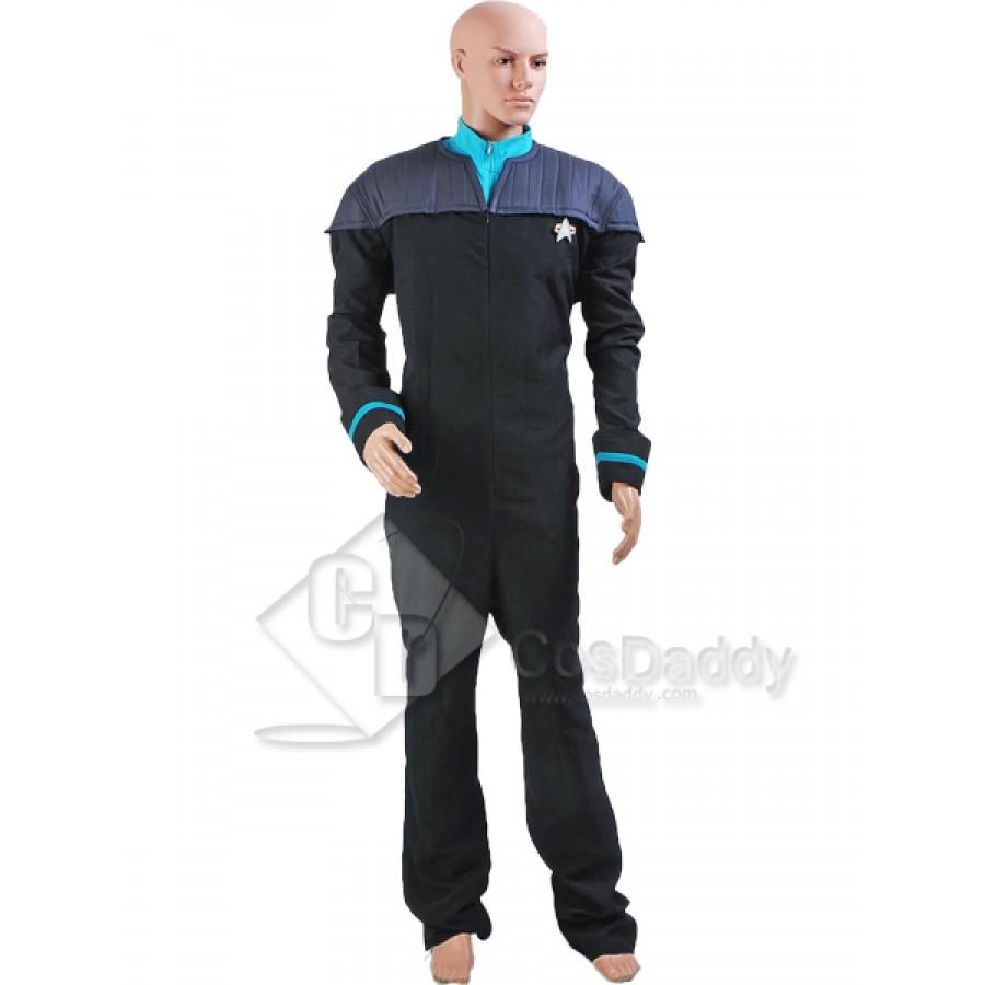 Star Trek The Next Generation Cosplay Deanna Troi Jumpsuit uniform Cos