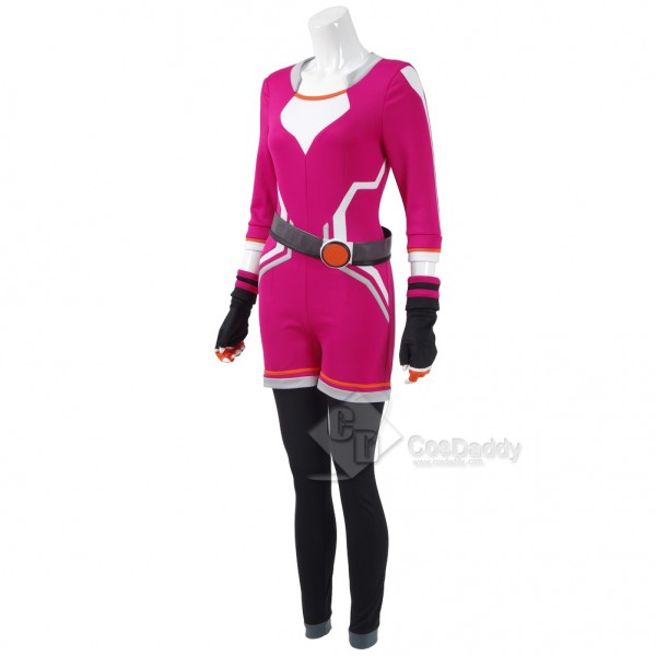CosDaddy Pokemon Go Costume Women Trainer Uniform Pokemon Cosplay Jumpsuit Halloween Red Outfit