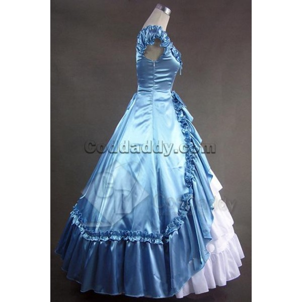 Renaissance Gothic Wedding Dress Ball Gown Prom Cosplay Costume