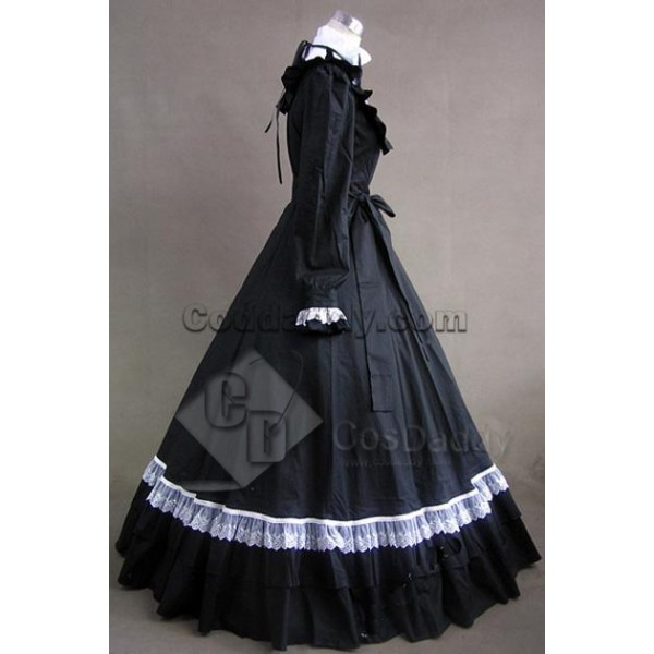 Gothic Lolita Cotton Cosplay Dress Ball Gown Prom Cosplay Costume