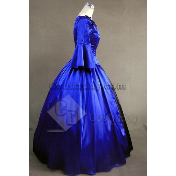 Southern Belle Satin Lolita Ball Gown Prom Dress Cosplay Costume