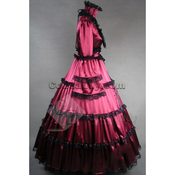 Southern Belle Gothic Lolita Satin Dress Ball Gown Prom Cosplay Costume