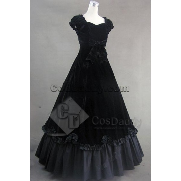 Southern Belle Civil War Satin Ball Gown Dress Cosplay Costume