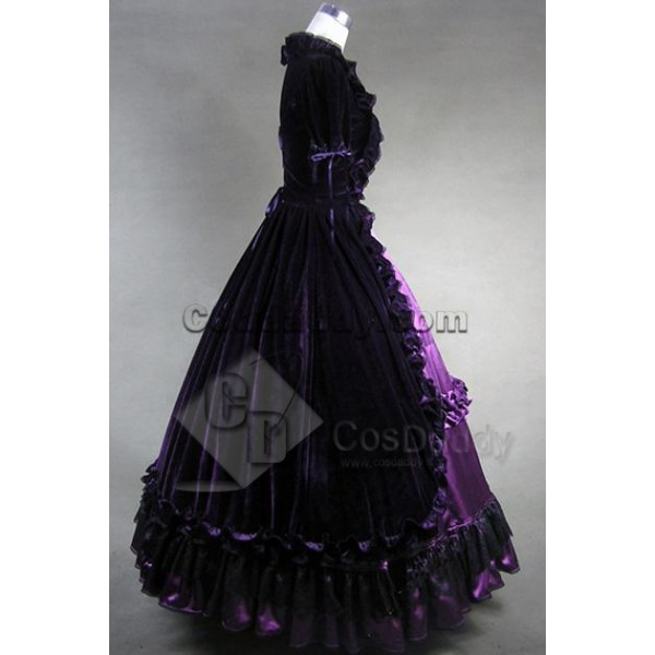 Lolita Renaissance Prom Velvet Dress Ball Gown Cosplay Costume