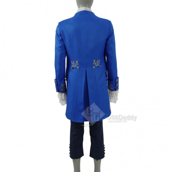 Cosdaddy 2017 New Beauty and the Beast Prince Blue Suit Cosplay Costume