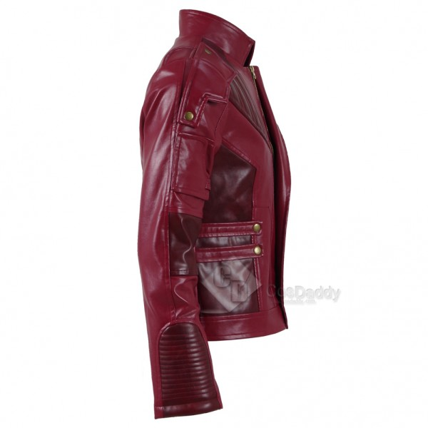 Guardians of The Galaxy 2 Peter Quill Star-Lord Red Jacket Cosplay Costume