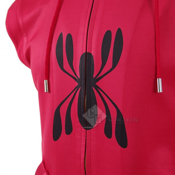CosDaddy Spider-Man: Homecoming Peter Parker Homemade Sleeveless Hoodie