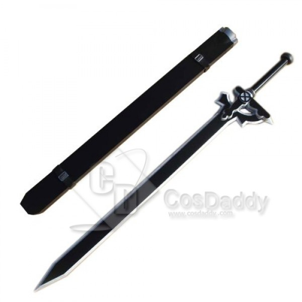 Sword Art Online Kirito Black Sword Elucidator Cosplay Prop