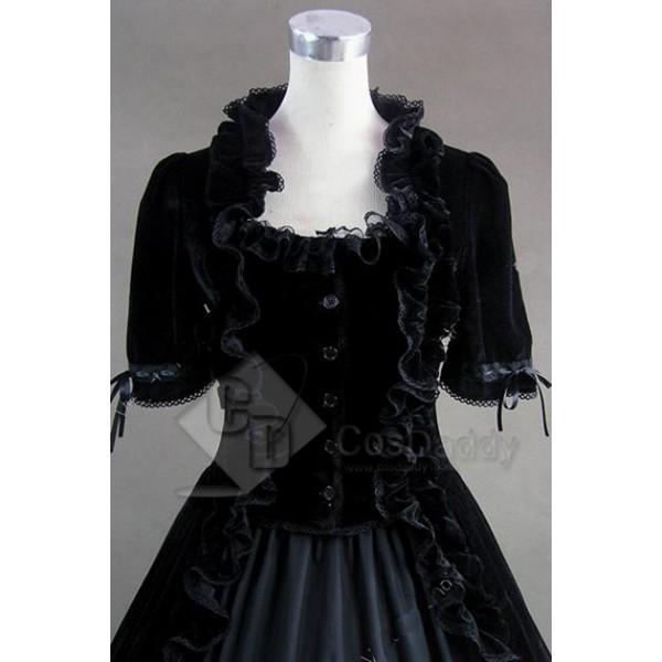 Renaissance Gothic Lolita Velvet Dress Ball Gown Cosplay Costume