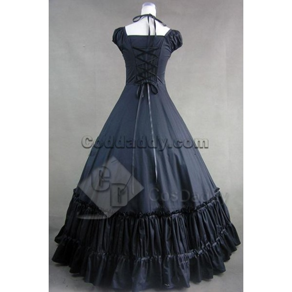 Civil War Gothic Lolita Satin Ball Gown Dress Cosplay Costume