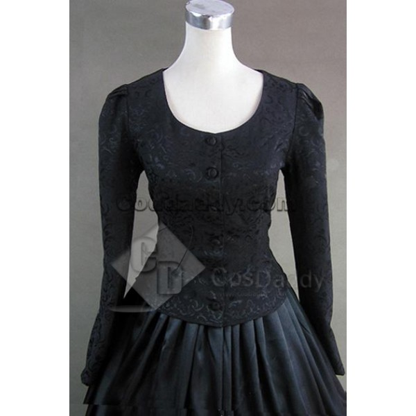 Civil War Victorian Brocaded Ball Gown Dress Prom Cosplay Costume