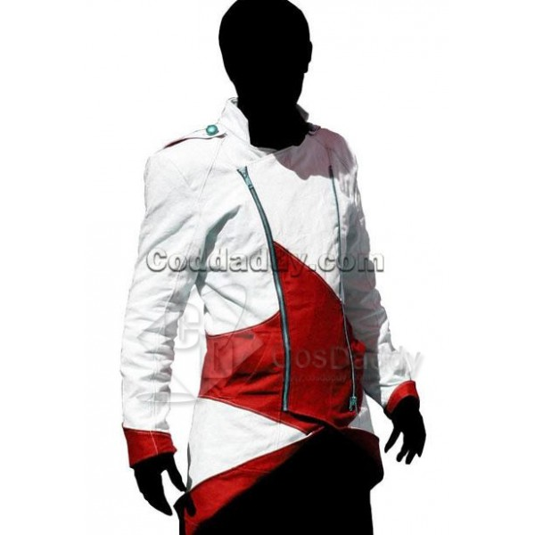 Assassin's Creed III Connor Kenway Coat Jacket Hoodie White Red Cosplay Costume