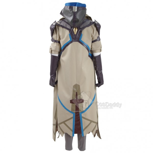 CosDaddy Game OW Ana Costume Cosplay 2016 New Battle Suit Halloween Hoodies Uniforms Full Set with Pauldrons and Kneepad