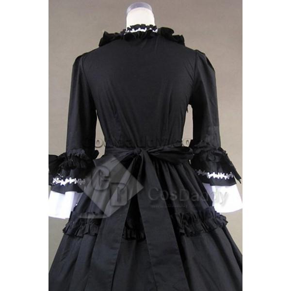 Renaissance Gothic Lolita Cotton Dress Ball Gown Cosplay Costume