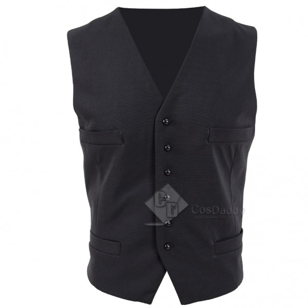 Cosdaddy The Dark Tower  Walter Padick Black Vest Cosplay Costume