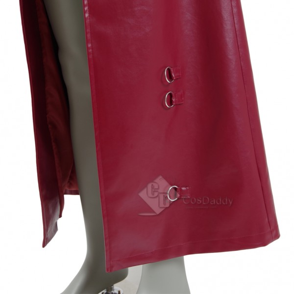 Cosdaddy Guardians of The Galaxy 2 Peter Quill Star-Lord Red Long Trench Coat Cosplay Costume