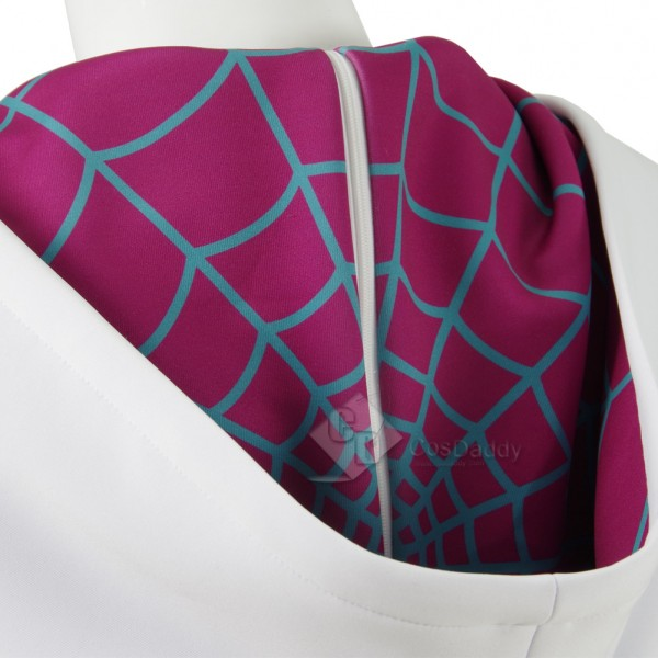 CosDaddy The Amazing Spiderman Gwen Stacy Spider-Gwen Cosplay Costume Spider Women Halloween Cosplay Suit Spandex Printing Jumpsuits