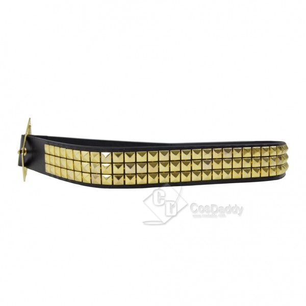 CosDaddy Harley Quinn Gold Pyramid Studs Belt Costume cosplay