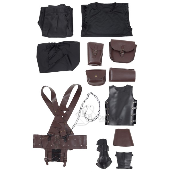 CosDaddy New Anime Berserk Guts Armor Cosplay Costume Halloween Battle Suit For Man Adult With Cloak Kneepads Full Set