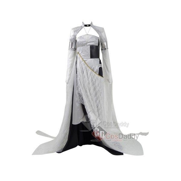 CosDaddy Final Fantasy XV Lunafreya Nox Fleuret Cosplay Costumes Halloween Dresses Top Cloak Full Set