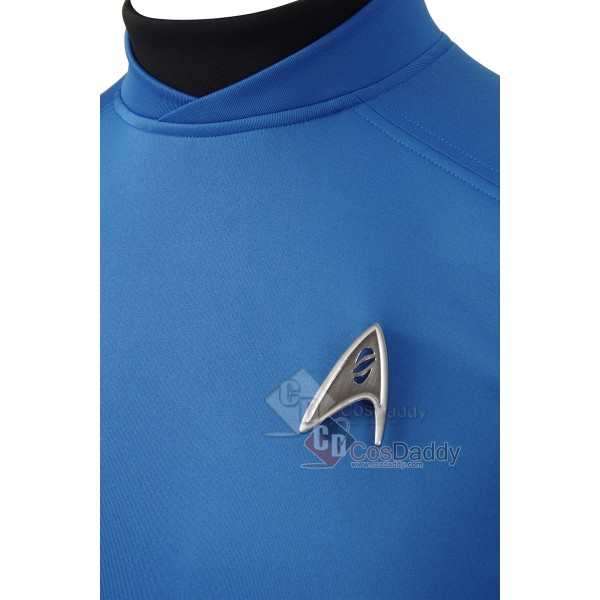 Star Trek Beyond Spock Cosplay Costumes Blue Shirt badge Jacket Tops New 2016 Halloween Officer Uniforms