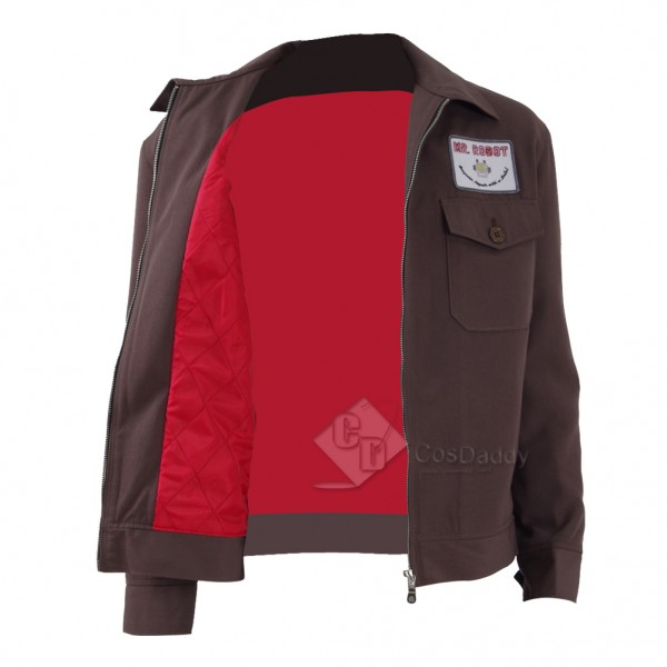 CosDaddy 2016 New Mr·Robot  Cosplay Brown&Ash Jacket for Halloween&Christmas