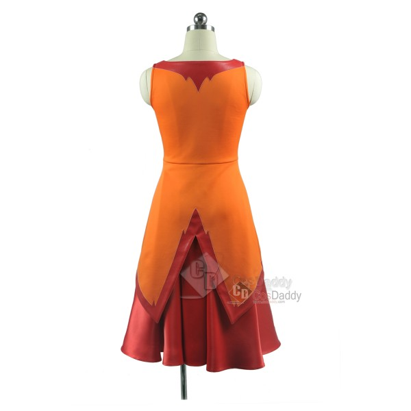 Adventure Time Flame Princess Dress Cosplay Costume