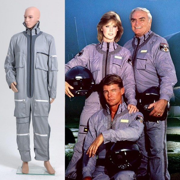 Airwolf Flightsuit Jumpsuit Uniform Flight Suit Cosplay Costume