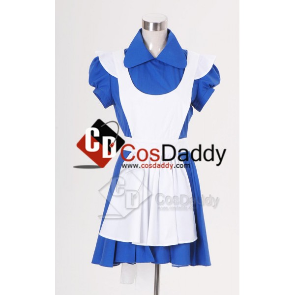 Alice In Wonderland Movie Blue Alice Dress Cosplay Costume